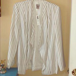 Chico's size 1 lightweight jacket, NWT white/black
